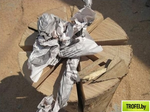 Полевая плита (конфорка) из бревна