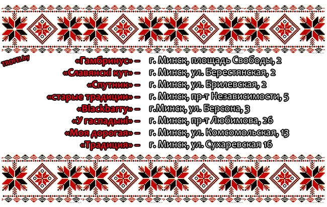 Неделя нацилональной кухни 2013. Беларусь